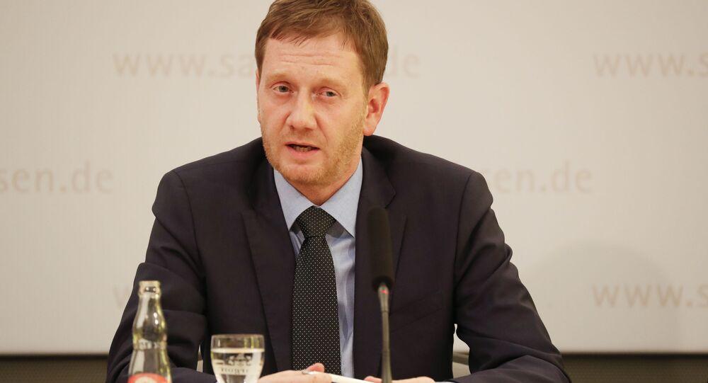 Premier Saksonii Michael Kretschmer