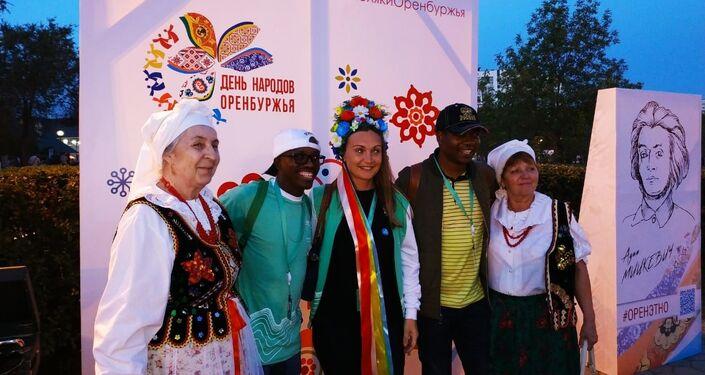 Polskie stoisko na Festiwalu Narodowości Obwodu Orenburskiego