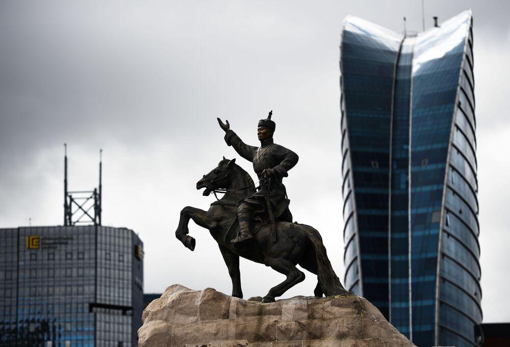 Pomnik Ułan Bator w Mongolii