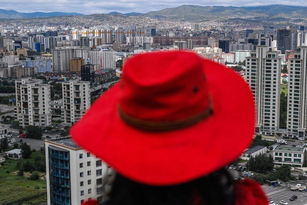 Widok na miasto Ułan Bator, Mongolia