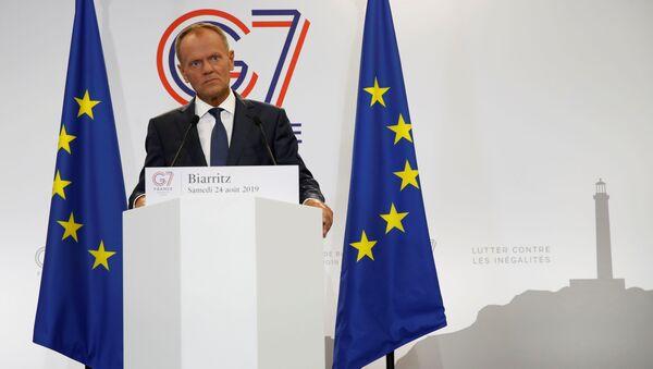 Przewodniczący Rady Europy Donald Tusk na szczycie G7 w Biarritz. - Sputnik Polska