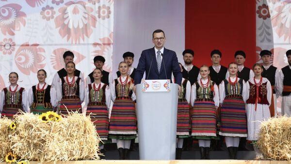 """Mateusz Morawiecki na uroczystościach """"Wdzięczni Polskiej Wsi"""" w Kolnie - Sputnik Polska"""