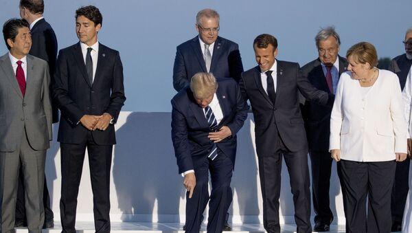 Liderzy państw na szczycie G7  - Sputnik Polska