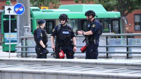 Policja na ulicach Malmö, Szwecja. Zdjęcie archiwalne - Sputnik Polska