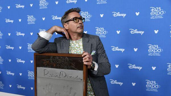"""Aktor Robert Downey Jr podczas wręczenia nagrody """"Disney Legends"""" - Sputnik Polska"""