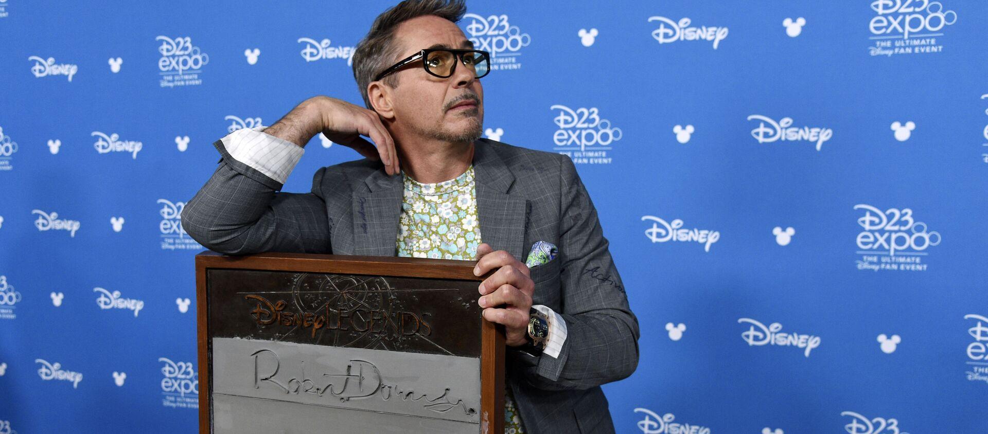 """Aktor Robert Downey Jr podczas wręczenia nagrody """"Disney Legends"""" - Sputnik Polska, 1920, 12.03.2021"""