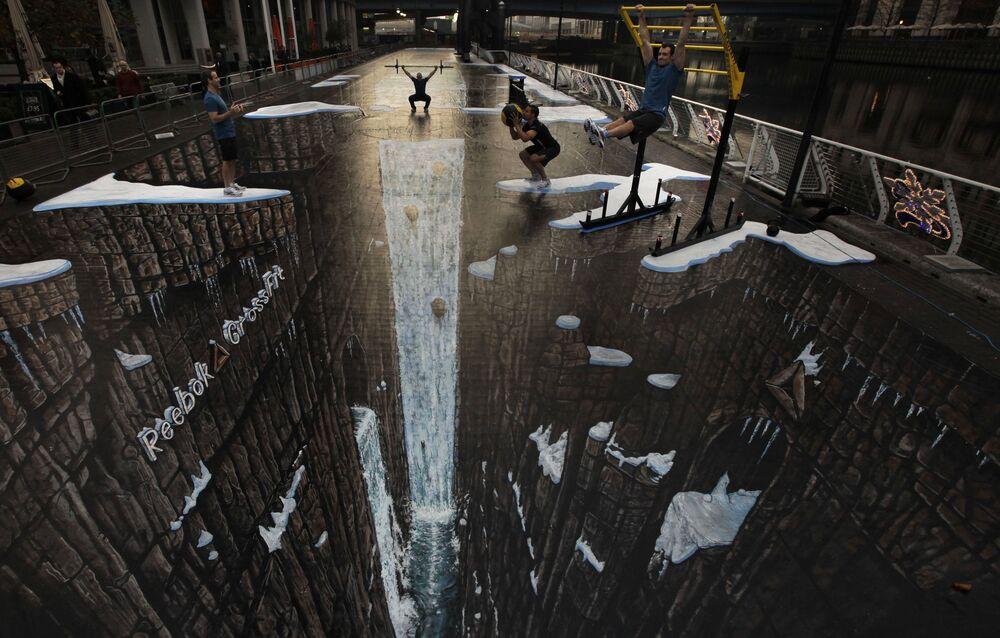 Największy na świecie rysunek 3D w Londynie