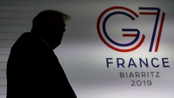 Prezydent USA Donald Trump na szczycie G7 w Biarritz - Sputnik Polska