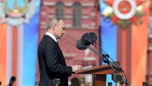 Władimir Putin na Paradzie Zwycięstwa w Moskwie - Sputnik Polska