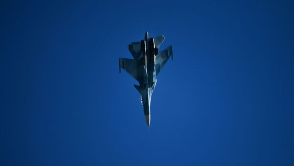 Su-30 – rosyjski wielozadaniowy samolot bojowy na Salonie Lotniczym i Kosmicznym MAKS 2019 - Sputnik Polska