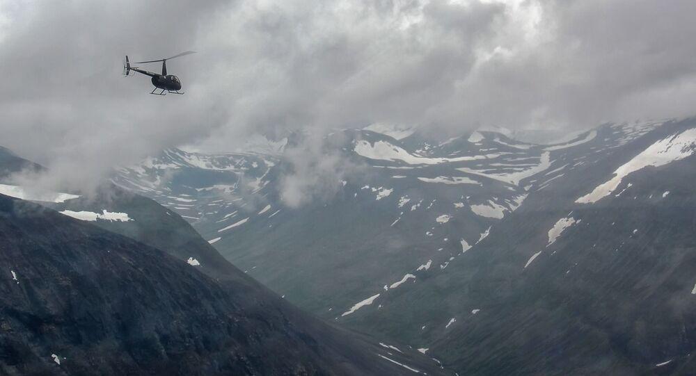 Helikopter nad Norwegią