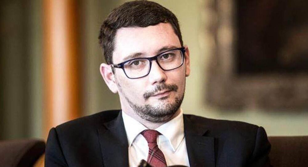 Jiří Ovčáček, rzecznik prezydenta Czech Miloša Zemana