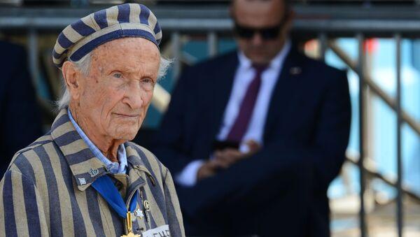 Były więzień obozów koncentracyjnych Eduard Mosberg na uroczystości z okazji 80. rocznicy wybuchu II wojny światowej w Warszawie - Sputnik Polska