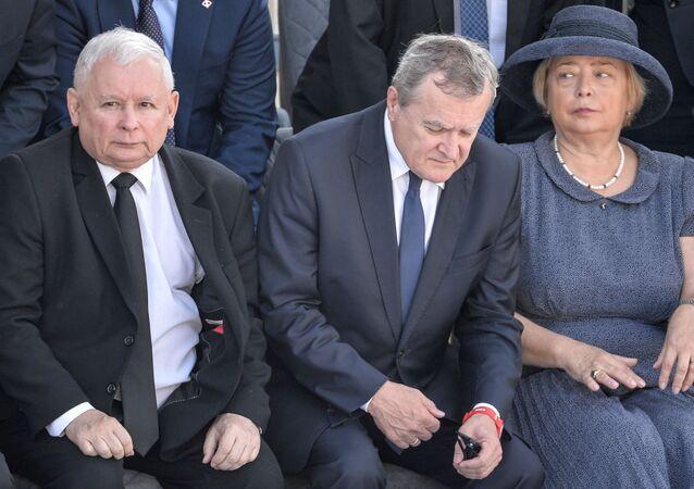 Jarosław Kaczyński na uroczystości z okazji 80. rocznicy wybuchu II wojny światowej w Warszawie