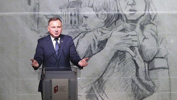 Prezydent Polski Andrzej Duda na uroczystości z okazji 80. rocznicy wybuchu II wojny światowej w Warszawie - Sputnik Polska