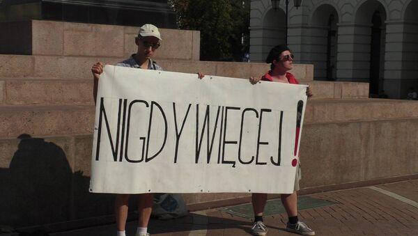 Akcja protestacyjna Nigdy więcej w Warszawie 1 września - Sputnik Polska