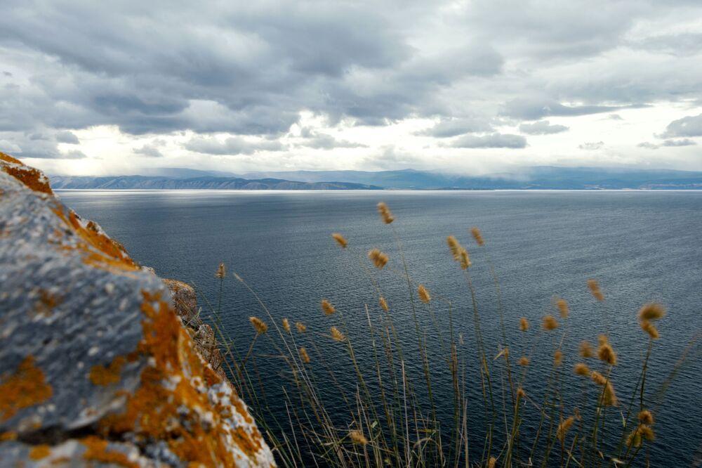 Widok z wyspy Olchon