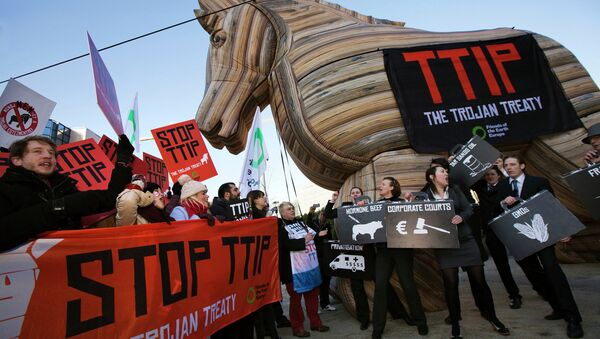 Demonstracja przeciwko TTIP - Sputnik Polska