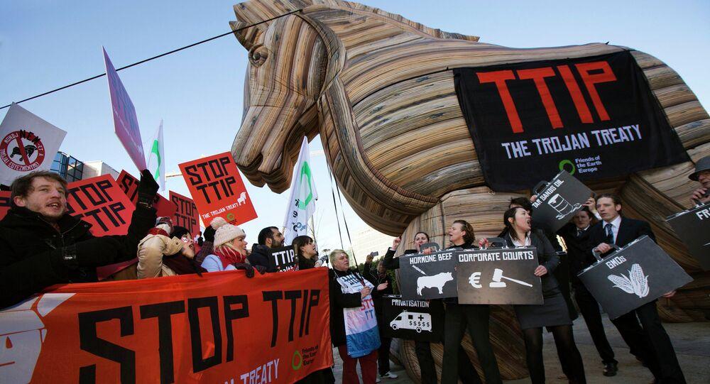 Demonstracja przeciwko TTIP