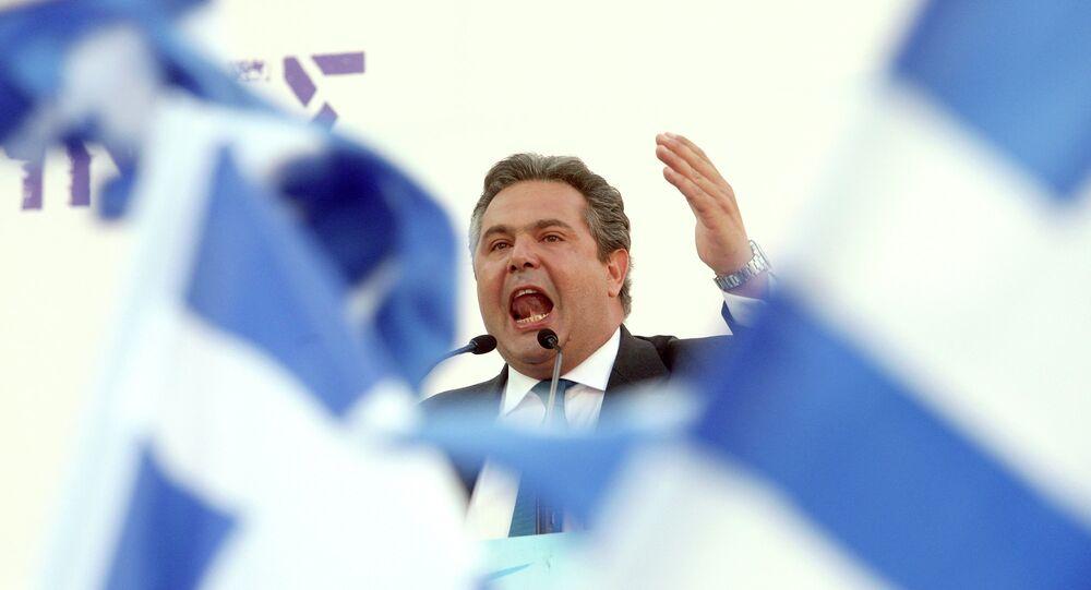Minister obrony Grecji Panos Kamenos