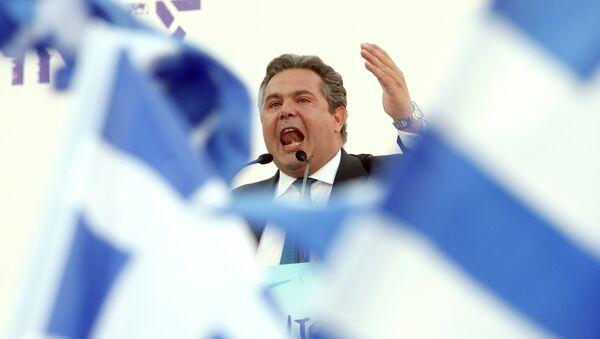 Minister obrony Grecji Panos Kamenos - Sputnik Polska