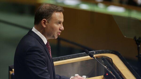 Prezydent Polski Andrzej Duda podczas Zgromadzenia Ogólnego ONZ 2015 - Sputnik Polska