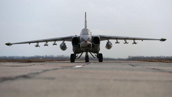 Samolot szturmowy Su-25. - Sputnik Polska