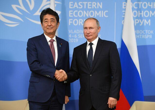 spotkanie Władimira Putina i Shinzo Abe
