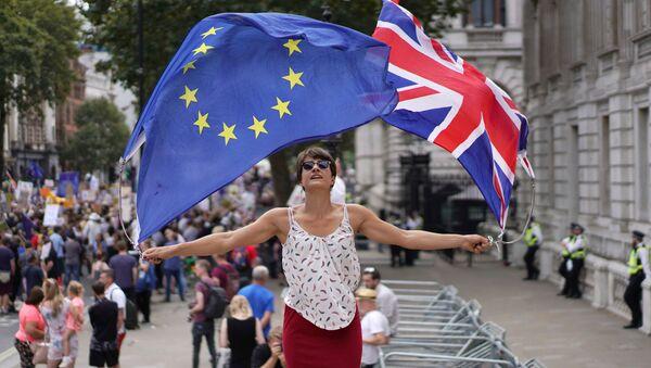 Protest przeciwników Brexitu w Londynie - Sputnik Polska