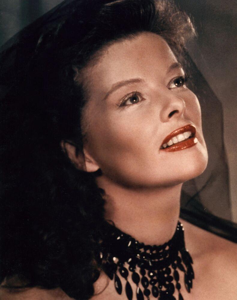 Amerykańska aktorka Katharine Hepburn.