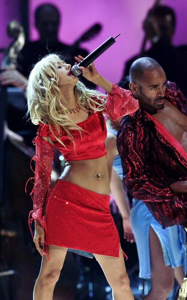 Piosenkarka Christina Aguilera na pierwszym corocznym rozdaniu Latin Grammy Awards w Los Angeles.