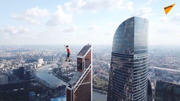 Spacer po linie na wysokości 350 metrów  - Sputnik Polska