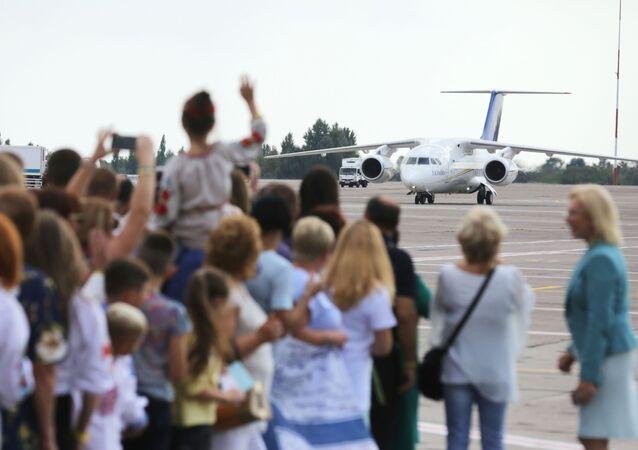 Uczestnicy porozumienia w sprawie uwolnienia między Rosją a Ukrainą w Boryspolu