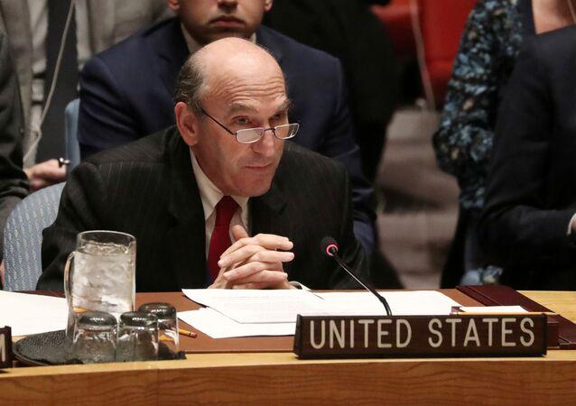 Amerykański dyplomata Elliott Abrams relacjonuje o sytuacji w Wenezueli w czasie posiedzenia Rady Bezpieczeństwa ONZ