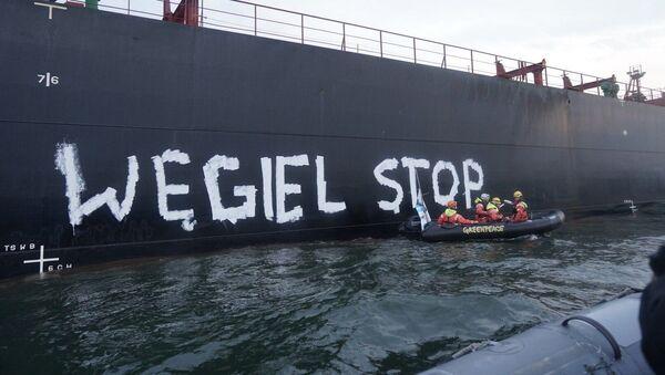 Protest Greenpeace - Węgiel stop - Sputnik Polska