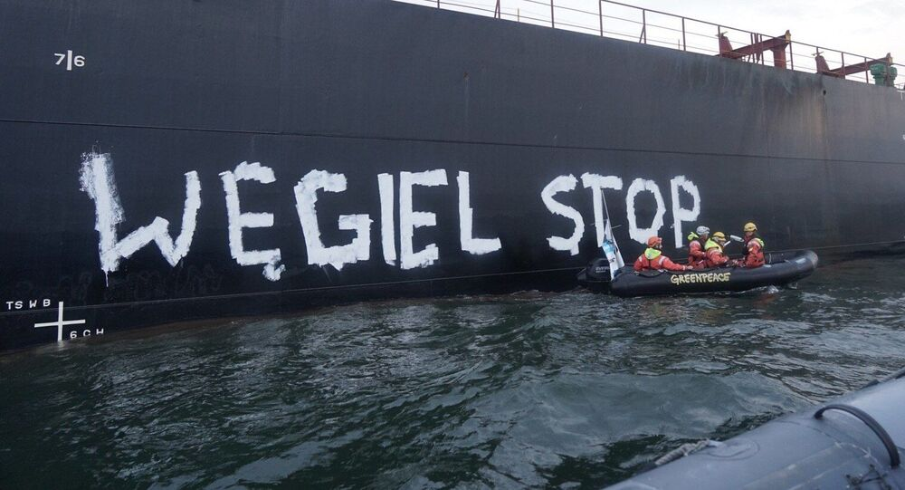Protest Greenpeace - Węgiel stop