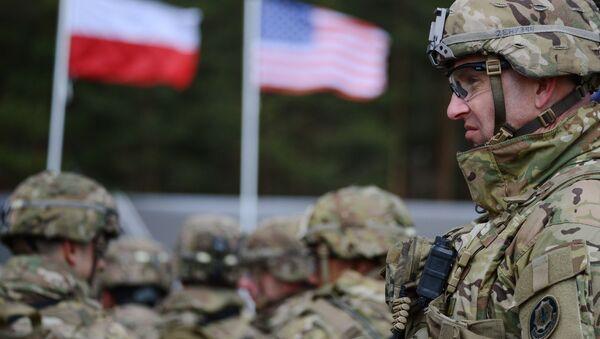 Ceremonia powitania wielonarodowego batalionu NATO pod dowództwem USA w polskim Orzyszu - Sputnik Polska