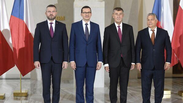 Spotkanie szefów rządów krajów Grupy Wyszehradzkiej w Pradze.  - Sputnik Polska