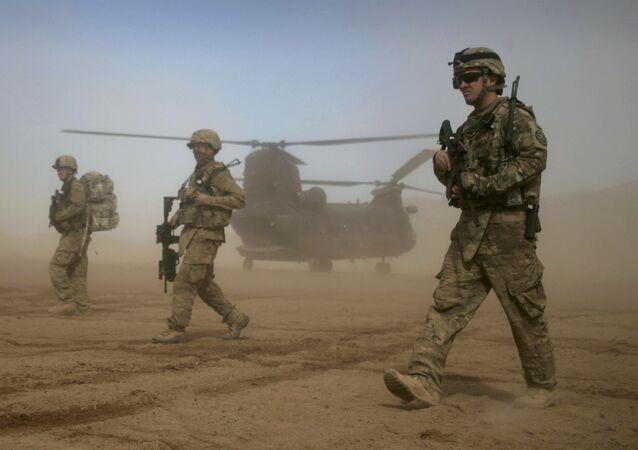 Żołnierze USA w Shindand w Afganistanie