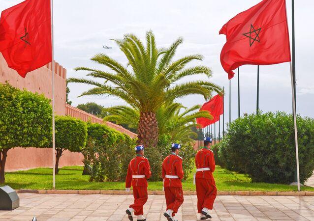 Gwardia króla w Marrakeszu