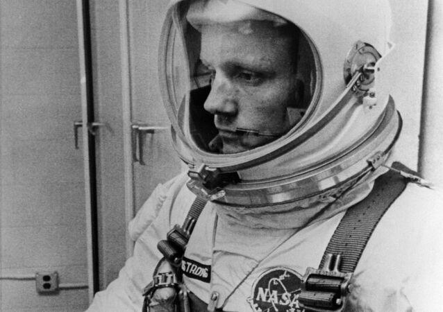 Amerykański astronauta Neil Armstrong