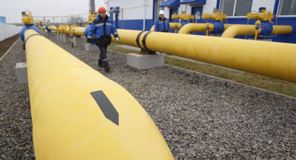 """Uruchomienie stacji dystrybucji gazu """"Zapadnaja"""" spółki Gazprom na Białorusi"""