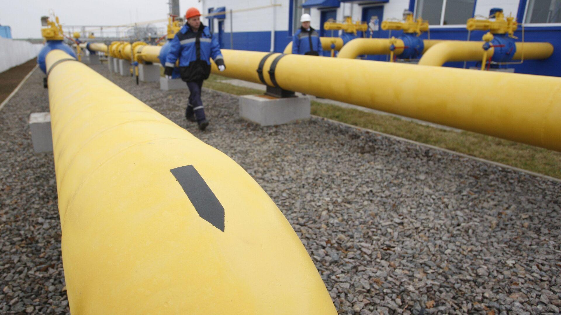 """Uruchomienie stacji dystrybucji gazu """"Zapadnaja"""" spółki Gazprom na Białorusi - Sputnik Polska, 1920, 12.08.2021"""