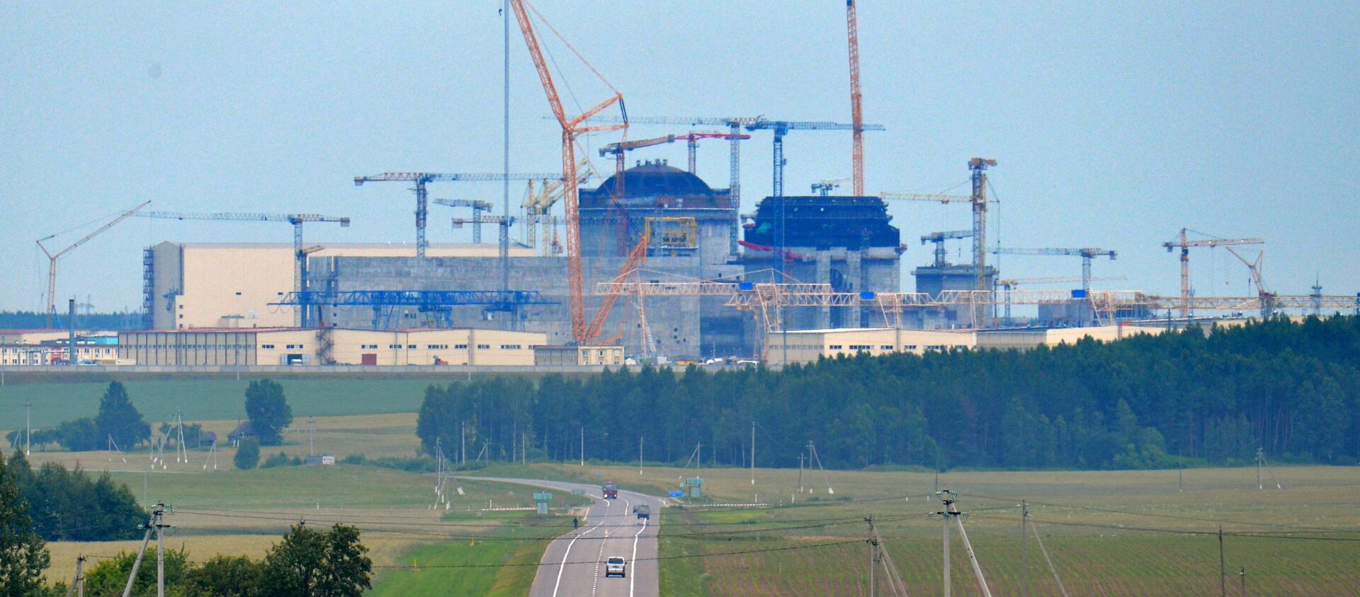 Białoruska elektrownia jądrowa powstająca 18 km od miasta Ostrowiec - Sputnik Polska, 1920, 26.04.2021