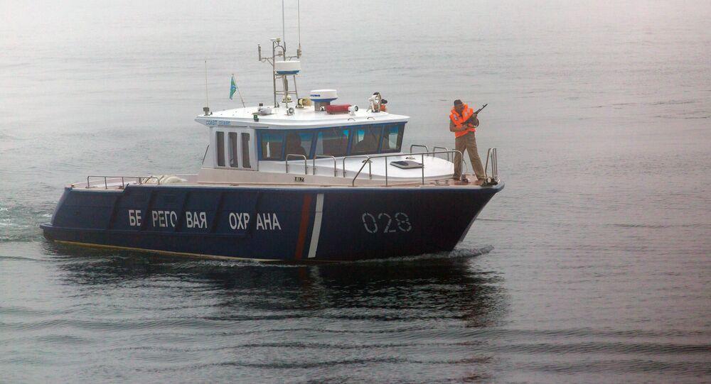 Kuter patrolowy FSB Rosji na Morzu Japońskim