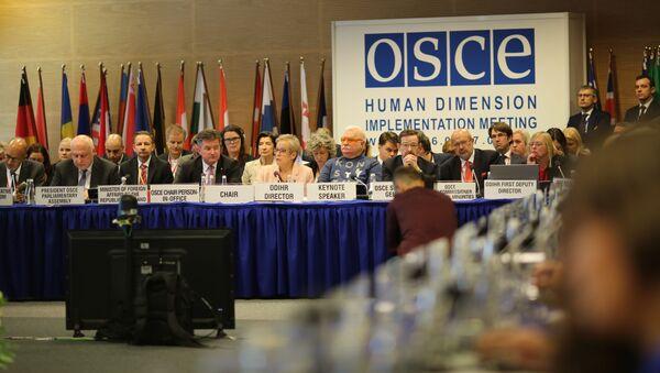 Posiedzenie plenarne OBWE w Warszawie - Sputnik Polska