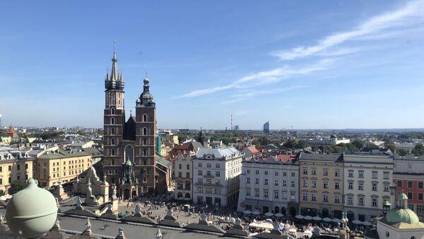 Kościól Mariacki na Rynku Głównym w Krakowie - Sputnik Polska