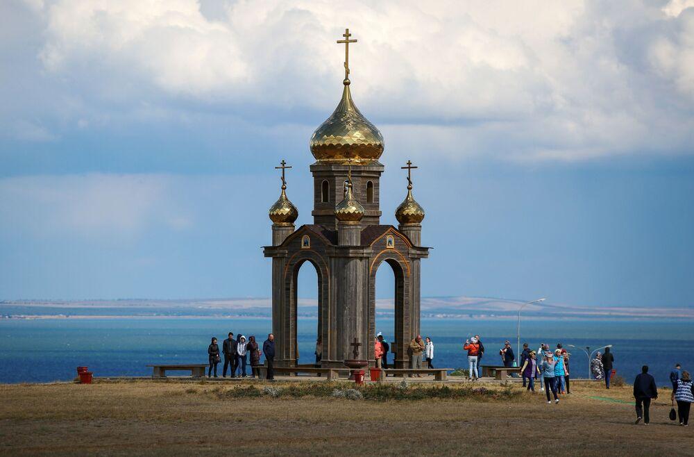 "Kaplica na terytorium kompleksu etnograficznego ""Ataman"" w Kraju Krasnodarskim"