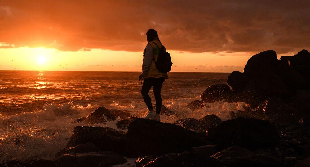 Zachód słońca w Soczi