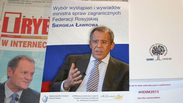 W Warszawie odbyła się prezentacja zbioru wypowiedzi Ławrowa w języku polskim - Sputnik Polska